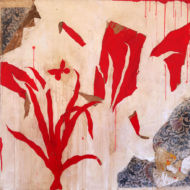 Le jardin en rouge