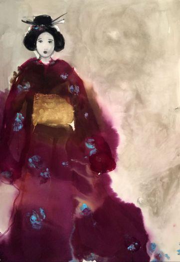 Sans titre au kimono violet