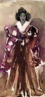 Sans titre au kimono marron