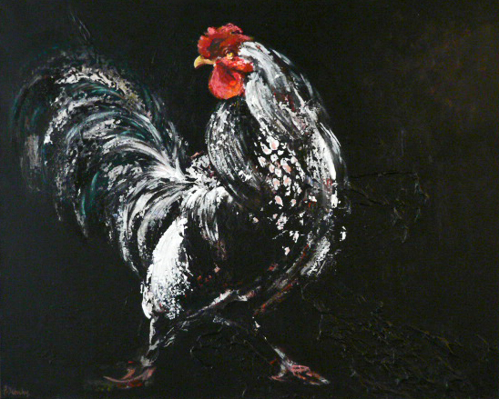 Patricia Debuchy - Coq blanc
