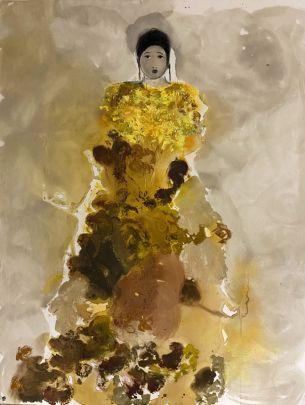 ST au buste jaune d'or