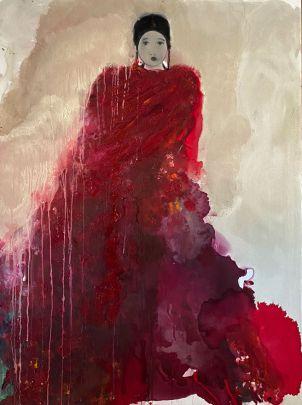 ST à la robe rouge