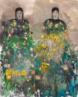 ST aux deux amies fleuries